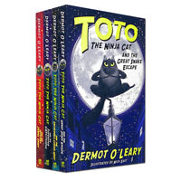 Toto the Ninja Cat Series 4 Books Collection Set By Dermot O'Leary