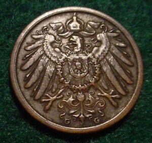 SCARCE DATE XF 1907*G* 2 PFENNIG GERMAN EMPIRE**NICE DETAILED COIN**