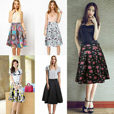Unbranded Knee-Length Floral Regular Size Skirts for Women