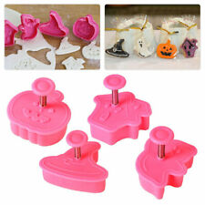 Halloween 4 pc Plunger Cookie Cutter Set 4 Shapes