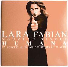 "LARA FABIAN - RARISSIME CD SINGLE PROMO ""HUMANA"" - RADIO EDIT - ÉTAT SUPERBE"