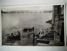 Nerbudda Bridge Budni India Women Washing Clothes in River Real Photograph Card