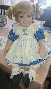 "Marie Osmond Porcelain Doll ""got milk"". Beautiful doll. As new."