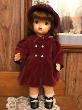 "Vintage 16"" Terri Lee Original Tagged Lined Coat And Hat~Coat And Hat Only"