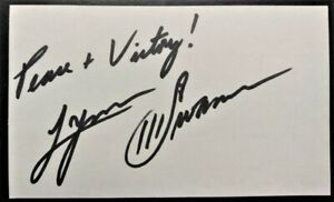 LYNN SWANN Autographed 3x5 Index Card ~ Pittsburgh Steelers ~ NFL Hall of Fame
