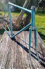 """Vintage Light Blue Steel Peugeot Road Bike Frame & Fork 60cm/23.5"""""""