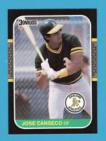 JOSE CANSECO 1987 DONRUSS ROOKIE CARD #97 ATHLETICS ROY A'S WELL CENTERED