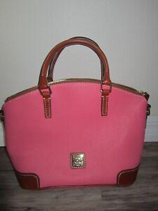 Dooney and Bourke Pebble Leather Charlie Satchel Bubblegum Pink