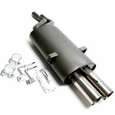 TA Sportauspuff+ABE! für BMW E46 6-Zylinder '01-05 2 Eingangsrohre 2x76mm scharf