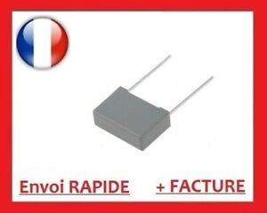1µf 275v MKP x2 sh r.46 K 275vac 1uf, 1 µf, 1000nf, condensateur Pas: 27.5mm