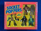 1991 Ertl Socket Poppers Action Figures Vampire Mummy Monsters Box Set MISB
