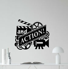 Action Movie Wall Decal Film Reel Cinema Home Theater Vinyl Sticker Decor 179crt