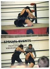 Big Girls Wrestling Fight Lot of 2 Vintage 1999 Photos Women Wrestlers