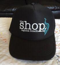 The Shop Laguna Beach Trucker Hat Snapback Adjustable, Black and Otto