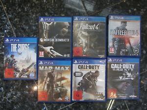 PS4 Spielesammlung 7 Stück, sehr guter Zustand