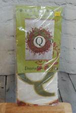 "Evergreen 29"" x 43"" Decorative Berry Wreath Monogram Flag-Q"