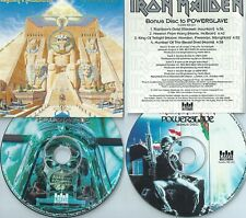 IRON MAIDEN-POWERSLAVE-1985/1995-USA-CASTLE RECORDS 106-2-WHITE INLAY-2CDS-MINT