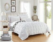 Chic Home Zissel Duvet Set Queen Size 4 Piece Bedding White & Black