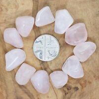 11 x Rose Quartz Tumblestones Crystals 20-37g *CHOOSE YOUR SET* Love Reiki RQ8