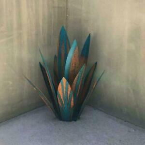 1Pc Metal Art Tequila Rustic Sculpture Garden Yard Home 9 Decoration leaves G3O1