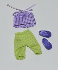Kelly Doll Clothes Shoes * Purple Halter Top, Polka Dot Leggings * Fashion