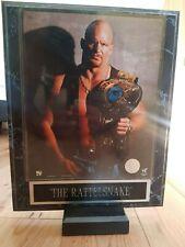 More details for premium stone cold steve austin wwe framed high quality wrestling photo poster