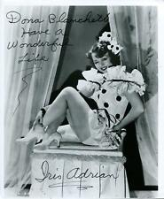 Iris Adrian Autograph Actress In The Odd Couple & The Lucy Show Signed Photo