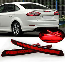 For Ford Mondeo Fusion 2011-12 LED Rear Bumper Reflectors Light Warn Tail Brake