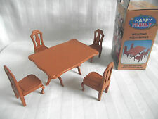 DOLLS HOUSE FURNITURE SET  / TABLE & FOUR CHAIRS / NEW IN BOX