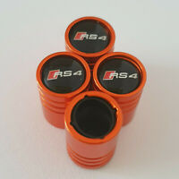 AUDI RS4 Orange Valve Dust caps all models 13 colours Ask NON STICK S LINE TT RS