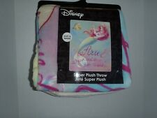 "Ariel The Little Mermaid Princess Disney Dream Plush Throw Blanket 48"" X 60 2019"