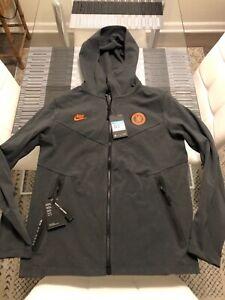 New Mens Nike Tech Chelsea FC Full-Zip Hoodie Grey Medium M CI2123-060 $130