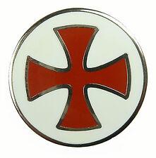 PIN Templer Kreuzritter Kreuz Rund Rot / Weiss Badge Ansteckpin aus Metall #196