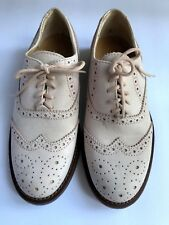 Vintage J. Crew Suede Brogue Oxford Loafers Blush Pink - Women's Size US 5 / 35