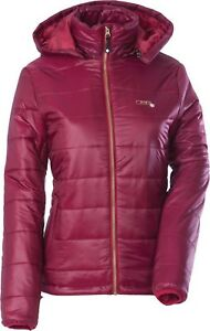 NOS DIVA SNOW GEAR 462-1062XS HOODED PUFFER JACKET GARNET RED SIZE WOMENS XS