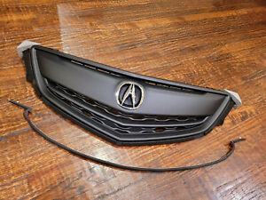 NEW ACURA TLX 2015 2016 2017 Front Grille Grill W/ OE Emblem All Black Moulding