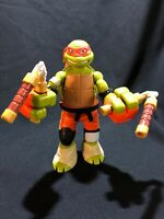 "PLAYMATES 10"" Michelangelo TMNT Action Figure VIACOM 2016 Turtle 4997"