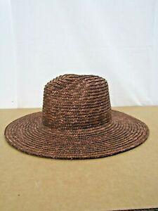 GIGI Pip Womens Brown Straw Hat Size 55 Small