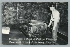 Coal Mining Equipment—Museum of Science & Industry CHICAGO Vintage RPPC Photo