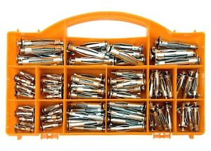 Brackit 90 Piece Wall Anchors Plug Set – Various Sizes – In Plastic Storage Case