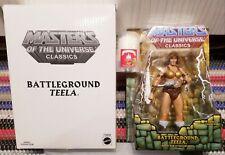 BATTLEGROUND TEELA Masters of the Universe Classics MOTUC + SDCC Moss Man Deod!