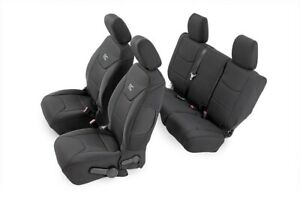 Rough Country Neo Seat Cover F NeoR Combo|BLK [13-18 for Wrangler JK Unlimited]