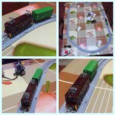 Treno con loco ED5060 Tomytec, vagone, tracciato e alimentatore in scala N