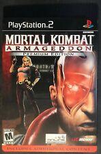 Mortal Kombat Armageddon Premium Edition (PlayStation 2,PS2, Steelbook) Complete