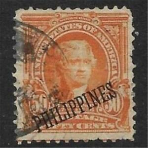 xst613 Scott PH236 US Possession Stamp 1903 50c Jefferson Used Philippines