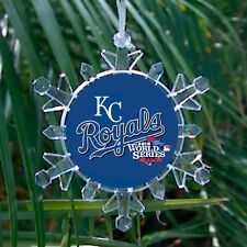 Kansas City Royals World Series Snowflake lit Holiday Christmas Tree Ornament