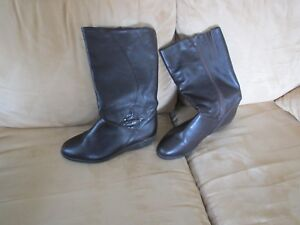 Woman's winter boots, brown,new, made in Italy, leather upper, sz-39