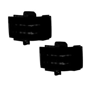 Recon 264245AMBK Side Mirror Lenses LED in Smoked For 17-20 F250/350/450 NEW