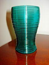 Imperial Reeded Whirlpool Spun Steigel Green set of 4 Glasses