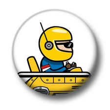 Driver 1 Inch / 25mm Pin Button Badge Go Kart Karting Racer Cute Cartoon Funny